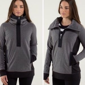 Lululemon Post Chaturanga Funnel Neck Fleece ZipUp